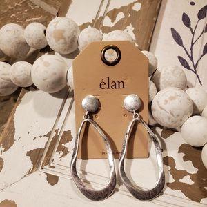 Silver drop dangle earrings